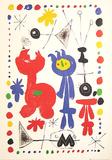 Personnage et oiseaux Prints by Joan Miró