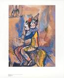 Zwei Clowns zu Pferd Posters by Marc Chagall