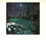 Ländliches Idyll Print by Marc Chagall