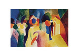 Mit gelber Jacke Collectable Print by Auguste Macke