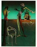 Femme a Tete de roses Print by Salvador Dalí