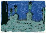 Garten bei Nacht Collectable Print by Werner Reuber
