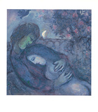 Traum der Liebenden Print by Marc Chagall