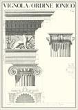 Ionic Order Prints by Giacomo Barozzi da Vignola