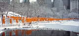 The Gates Skyline im Schneeer Druck Sammlerdrucke von Christo 