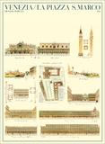 Piazza San Marco, Venedig, Italien Plakater af Dionisio Moretti