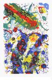 Untitled, c.1989 L 282/SF 341 Kunstdrucke von Sam Francis