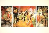 Grossstadt (Triptychon), c.1927-28 Sammlerdrucke von Otto Dix