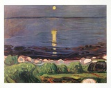 Sommernacht am Strand Láminas por Edvard Munch