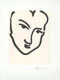 Femme I (Nadia au visage) Affiche par Henri Matisse