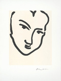 Femme I (Nadia au visage) Print by Henri Matisse