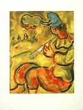 Der gelbe Clown Collectable Print by Marc Chagall