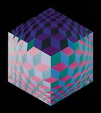 Hat-Leg Poster by Victor Vasarely