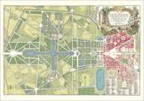 Plan du Parc, Versailles Prints by Jean De La Grive