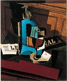 Syphon, Verre et Journal, c.1916 Poster by Juan Gris