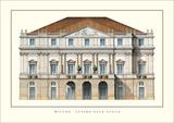Teatro  alla Scala, Milan Prints by Giuseppe Piermarini