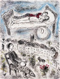 Les poetes Poster by Marc Chagall