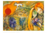 Liebende in Vence Art by Marc Chagall