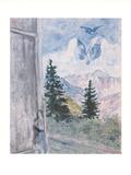 Landschaft von Peyra-Cava, c.1930 Plakater af Marc Chagall