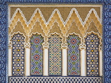 Ornate Detail With Coloured Tiles, Royal Palace, Fez-El-Jedid, Fez (Fes), Morocco, North Africa Fotografisk tryk