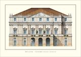 Teatro  alla Scala, Milan Posters by Giuseppe Piermarini