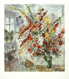 Strauss am Fenster Prints by Marc Chagall