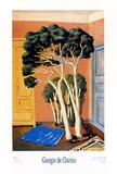 Les arbres dans la chambre Affiche par Giorgio De Chirico