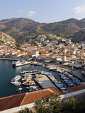View Over the Harbour of Hydra on the Island of Hydra, Greek Islands, Greece, Europe Photographic Print
