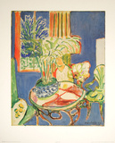 Petit interieur en bleu, c.1947 Poster von Henri Matisse
