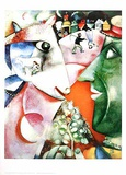 I and the Village Posters af Marc Chagall