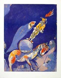 Clown with horse Affiches par Marc Chagall