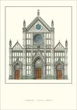 Santa Croce, Florence Posters by Nicola Matas