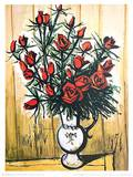 Rote Rosen Prints by Bernhard Buffet