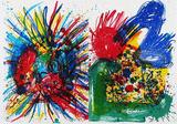91-94 (One Cent Life)+Rückseite Verzamelobjecten van Walasse Ting