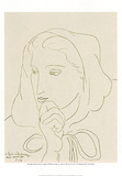Ritratto di donna con cappuccio Posters by Henri Matisse