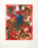Die roten Blumen, c.1950 Posters by Marc Chagall