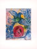 Liebende mit Vogel Posters par Marc Chagall