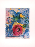Liebende mit Vogel Posters by Marc Chagall
