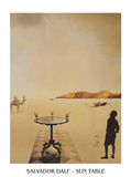 Sun Table Poster by Salvador Dalí
