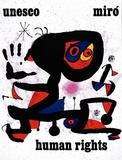 Unesco Affiches par Joan Miró