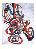 Ciseaux V, c.1967 Collectable Print by Jean Dubuffet