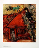 Das rote Haus Posters van Marc Chagall