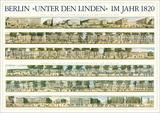 Berlin, Unter den Linden im Jahr 1820 Prints