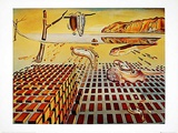 The Desintegration of Persistence of Memory Prints by Salvador Dalí