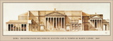 Recreation of the Forum of Augustus and Temple of of Mars Ultor, Rome Prints by Louis Noguet