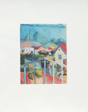 St.Germain bei Tunis, c.1914 Collectable Print by Auguste Macke