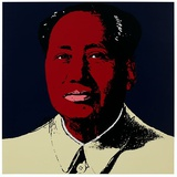 Mao Tse-Tung Kopf Rot-Gelb S&#233;rigraphie par Andy Warhol