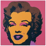 Marilyn Kopf Gelb-Anthrazit-Braun Serigraph by Andy Warhol