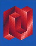 Rouge et Bleu Spesialversjon av Victor Vasarely