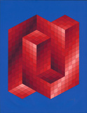 Rouge et Bleu Begränsad utgåva av Victor Vasarely
